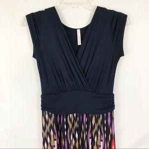 Gilli Stitch Fix Blue Cross Front Maxi Dress Sz S